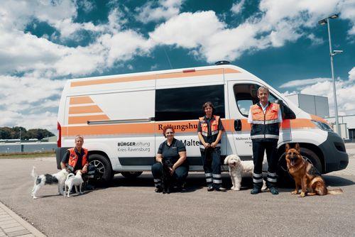 Bürgerstiftung Kreis Ravensburg unterstützt die Malteser-Hundestaffel
